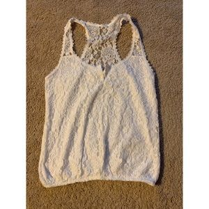 Gilly Hicks White Lace sleeveless top size M